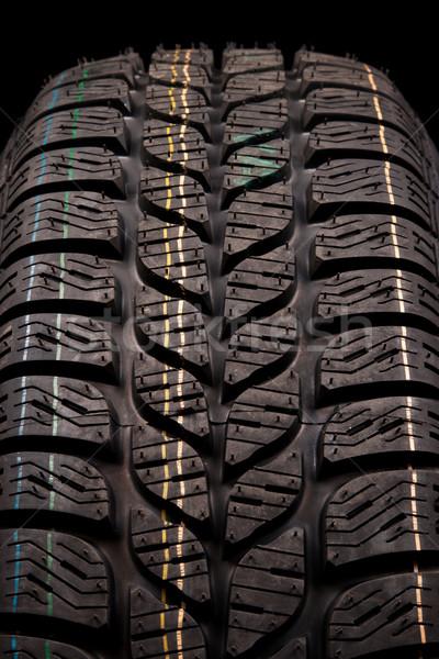 Zdjęcia stock: Opon · tekstury · zimą · czarny