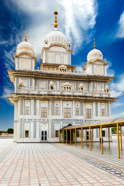 Sikh fort gebouw steen aanbidden architectuur Stockfoto © dmitry_rukhlenko