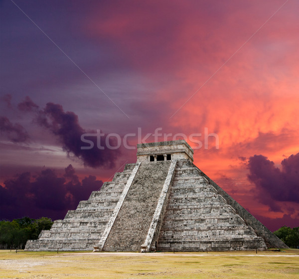 Mayan pyramid of Kukulcan El Castillo. Chichen-Itza, Mexico Stock photo © dmitry_rukhlenko