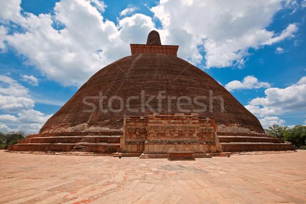 Jetavaranama dagoba  (stupa). Anuradhapura, Sri Lanka Stock photo © dmitry_rukhlenko