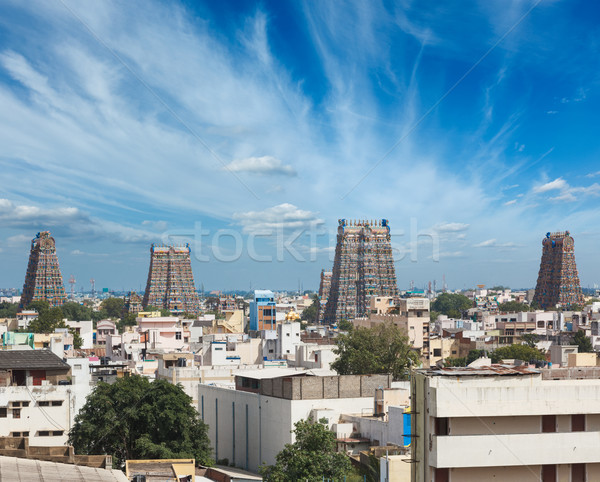 Sri Menakshi Temple. Madurai, Tamil Nadu, India Stock photo © dmitry_rukhlenko