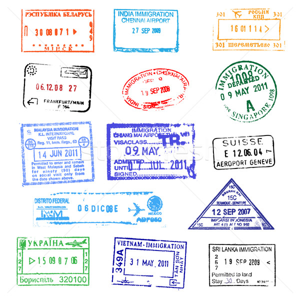 Passport stamps Stock photo © dmitry_rukhlenko