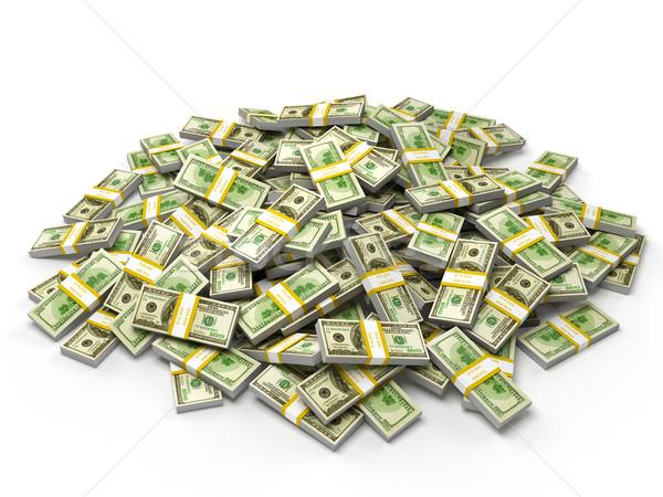 Pile of dollar bundles Stock photo © dmitry_rukhlenko
