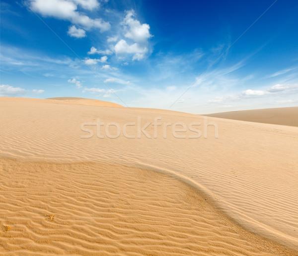 White sand dunes on sunrise, Mui Ne, Vietnam Stock photo © dmitry_rukhlenko