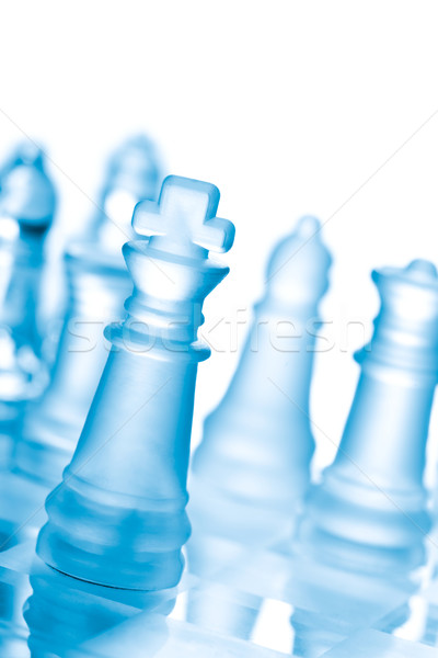 Glass chess Stock photo © dmitry_rukhlenko