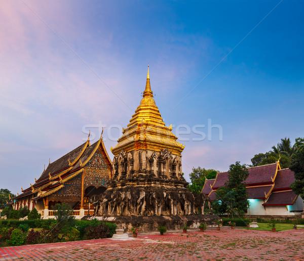 Tajlandia świątyni zmierzch wygaśnięcia podróży Zdjęcia stock © dmitry_rukhlenko