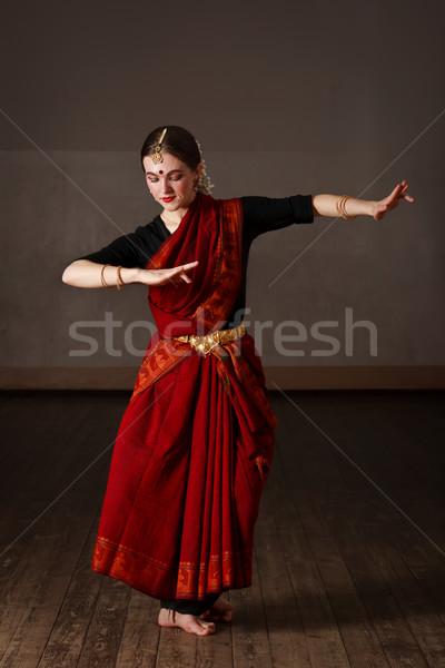 Exponent of  Bharat Natyam dance Stock photo © dmitry_rukhlenko