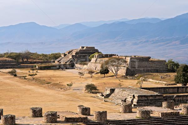 Antigo ruínas planalto México cidade montanha Foto stock © dmitry_rukhlenko