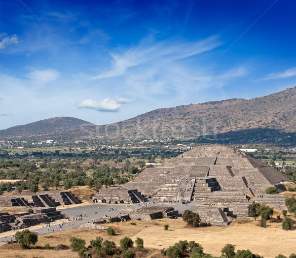 Stock photo: Pyramid of the Moon. Teotihuacan, Mexico