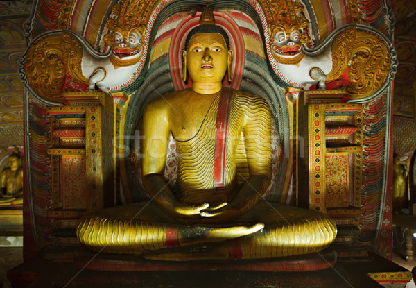 Ancient Buddha image in Dambulla Rock Temple caves, Sri Lanka Stock photo © dmitry_rukhlenko