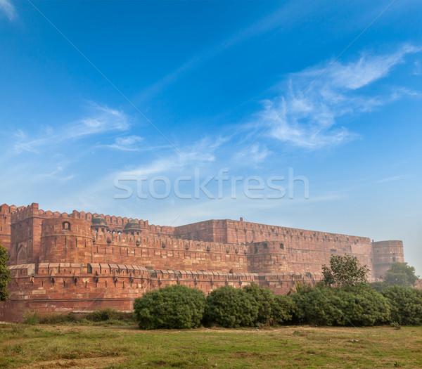 форт архитектура индийской Cityscape культура древних Сток-фото © dmitry_rukhlenko