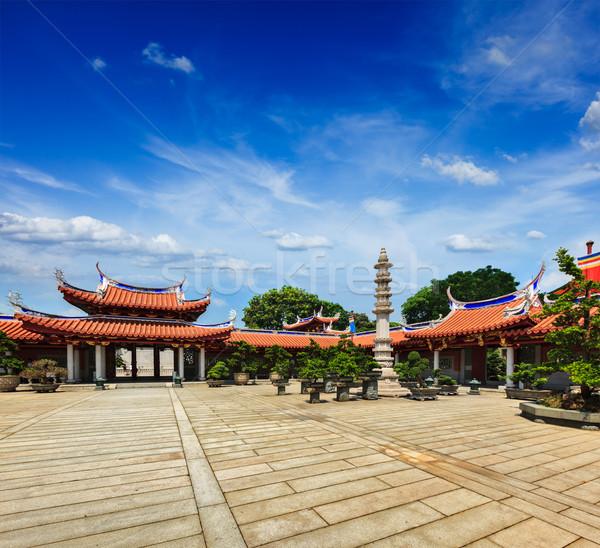 Mosteiro Cingapura céu edifício verde ouro Foto stock © dmitry_rukhlenko