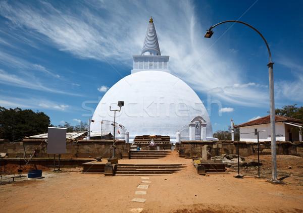 Sri Lanka steen witte buitenshuis niemand Stockfoto © dmitry_rukhlenko