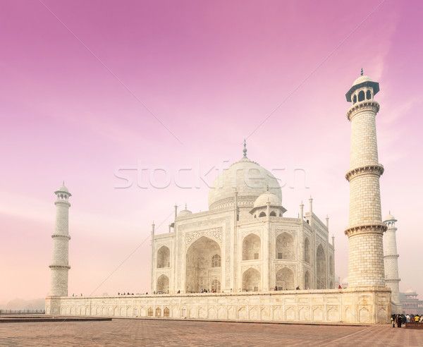 Taj Mahal on sunrise sunset, Agra, India Stock photo © dmitry_rukhlenko