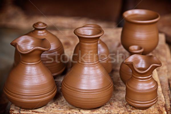 Cserépedények művész barna Stock fotó © dmitry_rukhlenko