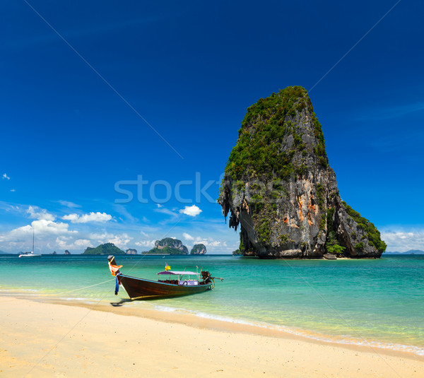 Stok fotoğraf: Tayland · tropikal · tatil · uzun · kuyruk · tekne
