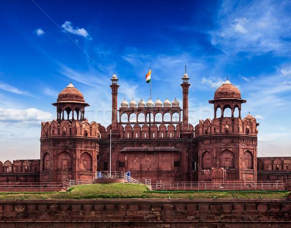 Piros erőd Delhi India utazás turizmus Stock fotó © dmitry_rukhlenko