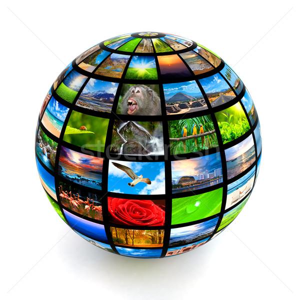 Picture globe Stock photo © dmitry_rukhlenko
