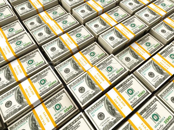 Background of rows of dollar bundles Stock photo © dmitry_rukhlenko