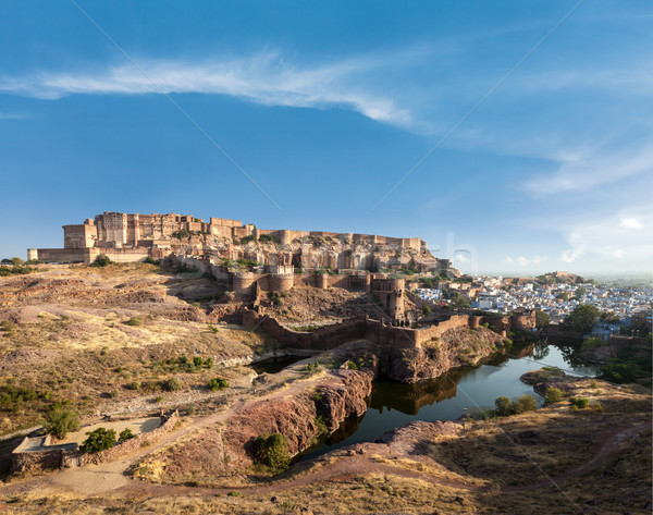 Stock fotó: Erőd · India · város · utazás · kilátás · ősi