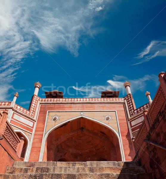 Graf Delhi Indië complex tuin reizen Stockfoto © dmitry_rukhlenko