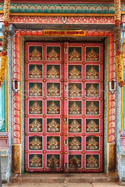 Hindu temple gates. Sri Ranganathaswamy Temple. Tiruchirappalli  Stock photo © dmitry_rukhlenko