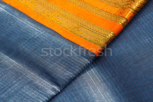 Foto stock: Indiano · seda · fundo · cor · padrão