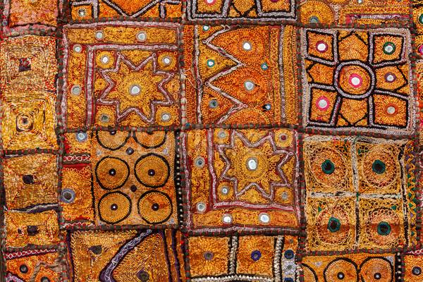 Színes indiai szövet textil India textúra Stock fotó © dmitry_rukhlenko