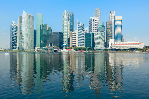 Singapore skyline zakenwijk jachthaven water stad Stockfoto © dmitry_rukhlenko