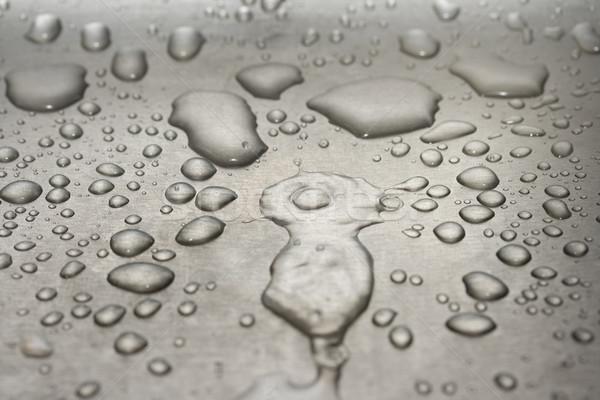 Métal macro eau Photo stock © dmitry_rukhlenko