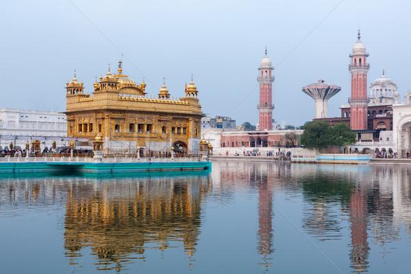 Altın tapınak sih su havuz mimari Stok fotoğraf © dmitry_rukhlenko