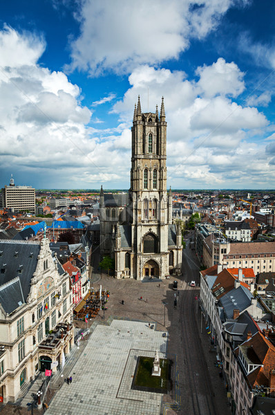 Saint Bavo Cathedral. Ghent, Belgium Stock photo © dmitry_rukhlenko
