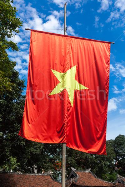 Vietnamese flag Stock photo © dmitry_rukhlenko