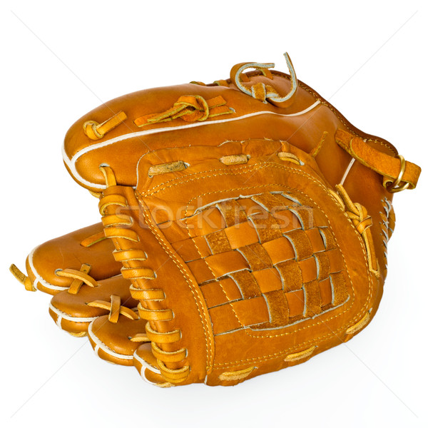 Baseball catcher mitt isolated on white background Stock photo © dmitry_rukhlenko