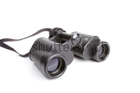Black binoculars isolated on white  Stock photo © dmitry_rukhlenko