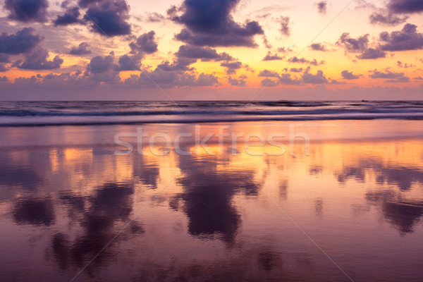 Naplemente tengerpart Goa India égbolt víz Stock fotó © dmitry_rukhlenko