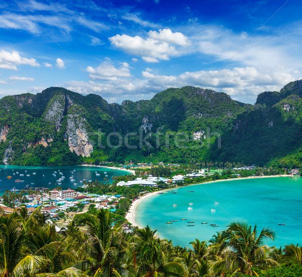 Yeşil tropical island seyahat tatil ada krabi Stok fotoğraf © dmitry_rukhlenko