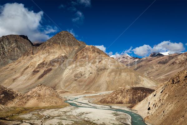 Himalayas landschap la hemel natuur Stockfoto © dmitry_rukhlenko