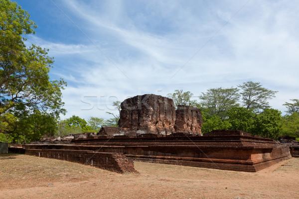 Real palácio ruínas antigo Sri Lanka edifício Foto stock © dmitry_rukhlenko