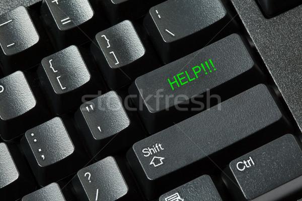 Foto stock: Isolado · preto · branco · teclado · chave