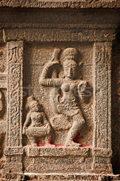 Bas reliefs in Hindue temple. Arunachaleswar Temple. Thiruvannam Stock photo © dmitry_rukhlenko