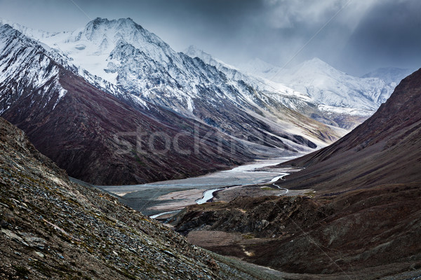 Severe mountains - View of Himalayas, India Stock photo © dmitry_rukhlenko