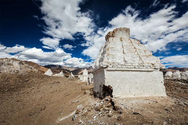 Buddhist chortens, Ladakh Stock photo © dmitry_rukhlenko