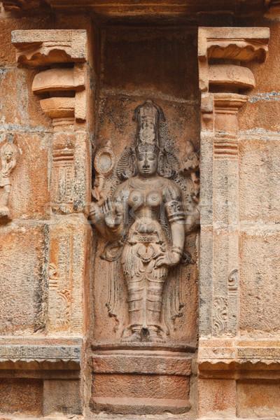 Bas reliefes in Hindu temple. Brihadishwarar Temple. Thanjavur,  Stock photo © dmitry_rukhlenko