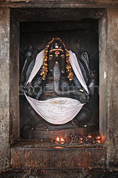 Ganesh statue in Hindu temple. Brihadishwarar Temple, Thanjavur, Stock photo © dmitry_rukhlenko