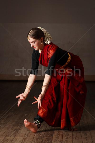 Foto stock: Dançar · mulher · jovem · dança · clássico · tradicional · indiano