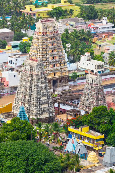 Gopura (towers) of  Lord Bhakthavatsaleswarar Temple. Thirukalu Stock photo © dmitry_rukhlenko