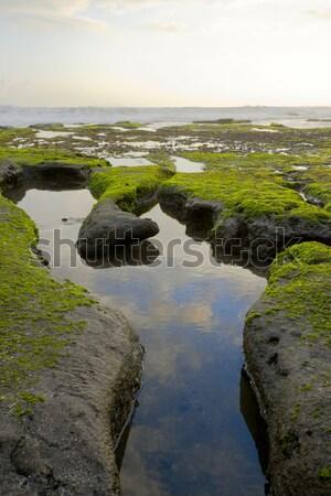 Láb alakú üreges óceán part este Stock fotó © dmitry_rukhlenko