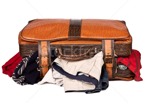 Overstuffed baggage isolated Stock photo © dmitry_rukhlenko