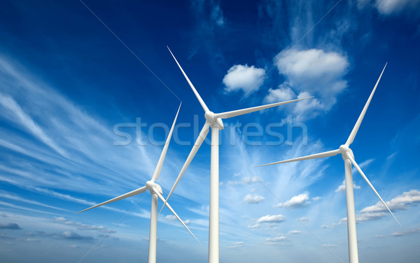 Generator hemel groene hernieuwbare energie wind energie Stockfoto © dmitry_rukhlenko